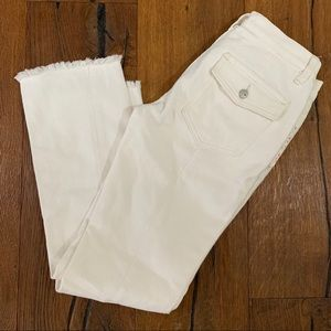 Free People Natural White Denim Jeans Straight